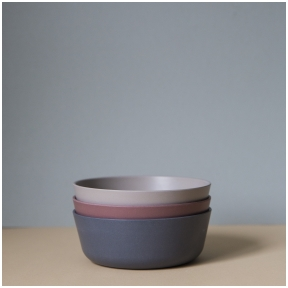 Bambuko dubenėliai Fog/Beet/Ocean  3 vnt.  | CINK