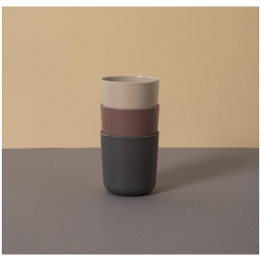 Bambuko puodeliai Fog/Beet/Ocean 3 vnt.  | CINK