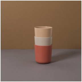 Bambuko puodeliai Fog/Rye/Brick 3 vnt.  | CINK
