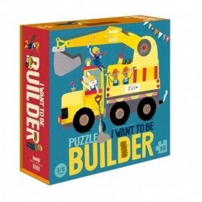 Puzzle I WANT TO BE A BUILDER, 3-6 y.