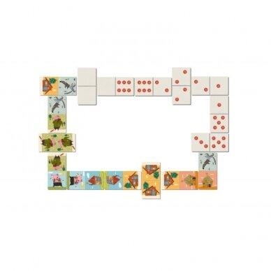 Domino žaidimas TRYS PARŠIUKAI, 3+ m. 3