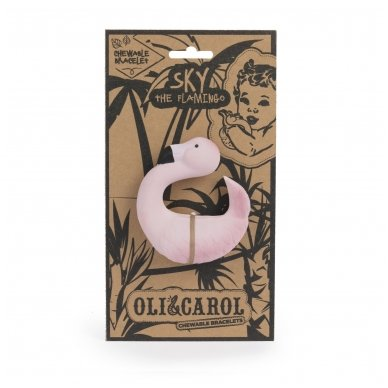Flamingas Sky  -kramtukas apyrankė | Oli&Carol 3