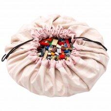 Krepšys žaislams Rožiniai Dryžiai