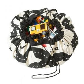 Krepšys Žaislams Gatvių Žemėlapis  DVIPUSIS | Play&Go