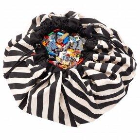 Krepšys žaislams Juodi  Dryžiai