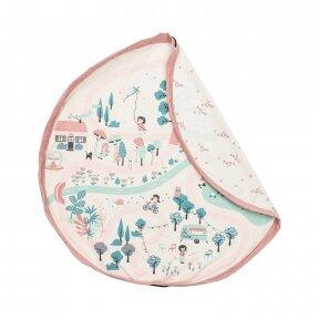 Krepšys Žaislams Parkas-Flamingai  Dvipusis