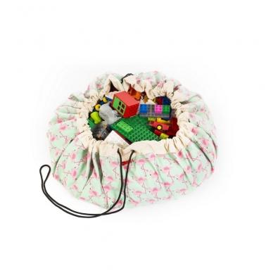 Krepšys Žaislams Flamingai  2
