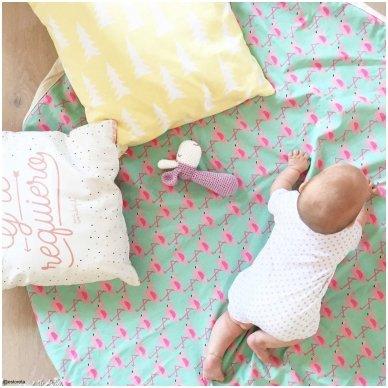 Krepšys Žaislams Flamingai  3