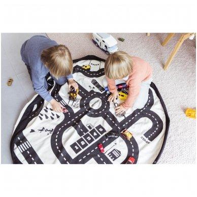 Krepšys Žaislams Gatvių Žemėlapis  DVIPUSIS | Play&Go 6