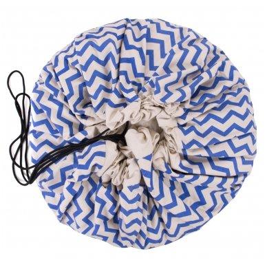 Krepšys Žaislams Mėlynas Zigzag 2