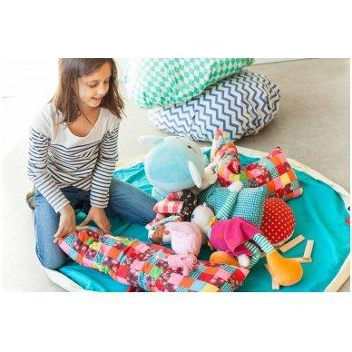 Krepšys Žaislams Mėlynas Zigzag 5
