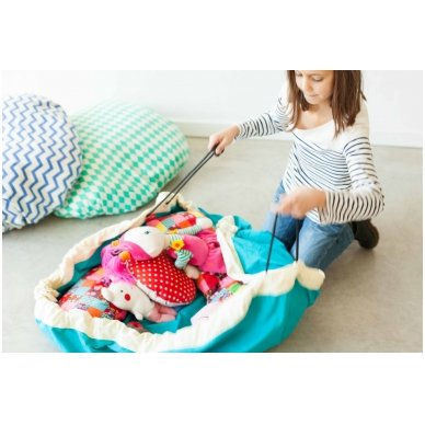 Krepšys Žaislams Mėlynas Zigzag 6