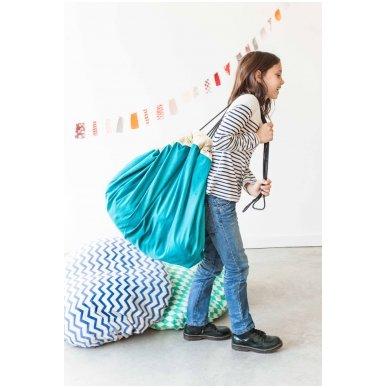 Krepšys Žaislams Mėlynas Zigzag 7