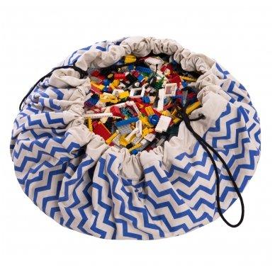 Krepšys Žaislams Mėlynas Zigzag