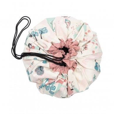 Krepšys Žaislams Parkas-Flamingai  Dvipusis 4