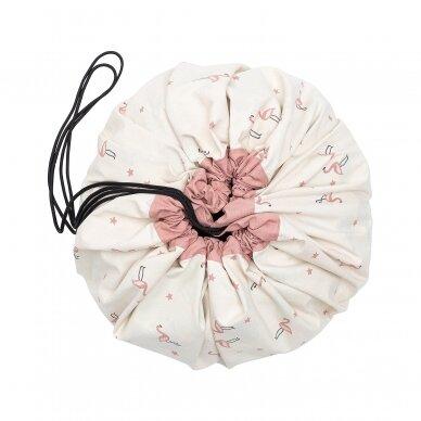 Krepšys Žaislams Parkas-Flamingai  Dvipusis 5