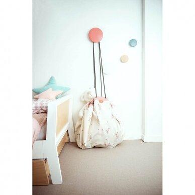 Krepšys Žaislams Parkas-Flamingai  Dvipusis 2