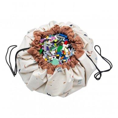 Krepšys Žaislams Skaičiai-Daržovės Dvipusis 3