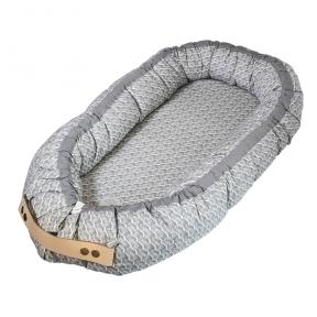 Kūdikėlio pagalvė/lizdelis - Ocean Grey | Filibabba