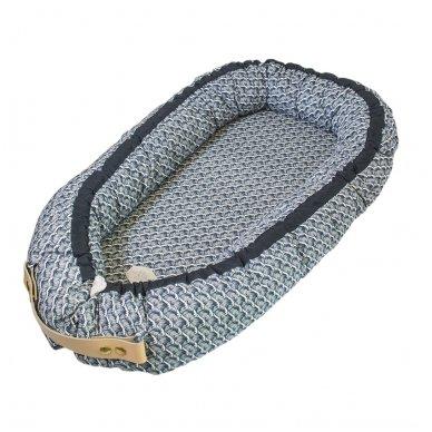 Kūdikėlio pagalvė/lizdelis - Ocean Blue | Filibabba