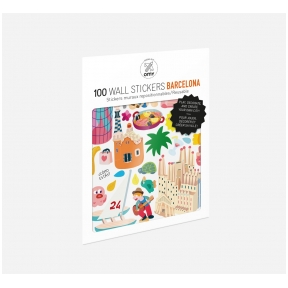 Set of stickers BARCELONA 100 pcs | OMY