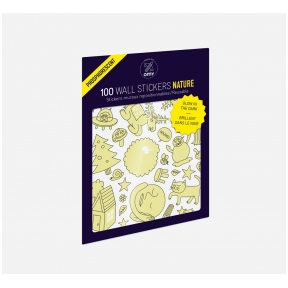 Set of stickers GLOW IN THE DARK - NATURE 100 pcs | OMY