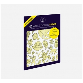 Set of stickers GLOW IN THE DARK - COSMOS 100 pcs | OMY