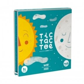 Wooden game Sun & Moon, tic tac toe, 3+ y.