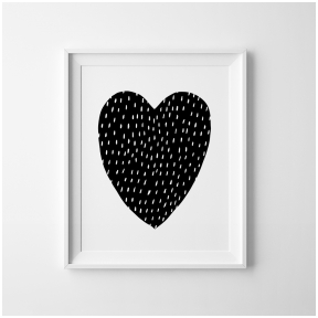 """Mini Learners printed poster """"Your are my Heart"""""""