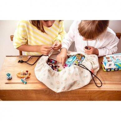 MINI Krepšys žaislams Vaivorykštės 2