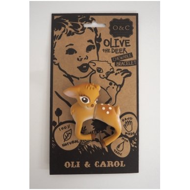 Olive kramtukas - apyrankė   Oli&Carol 3