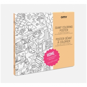 OMY Giant Coloring Poster - Home