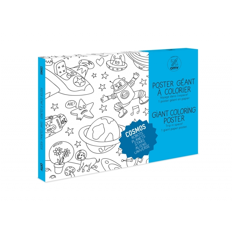 OMY Giant Coloring Poster - Cosmos | Playtime | KUKI store - it\'s a ...