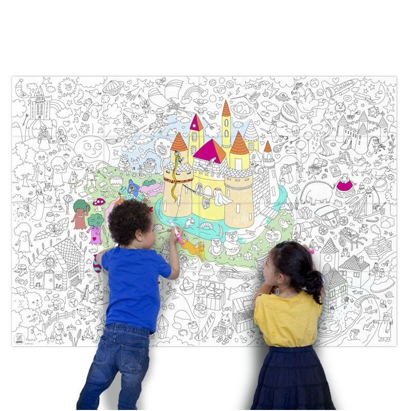 OMY Giant Coloring Poster - Magic | Playtime | KUKI store - it\'s a ...