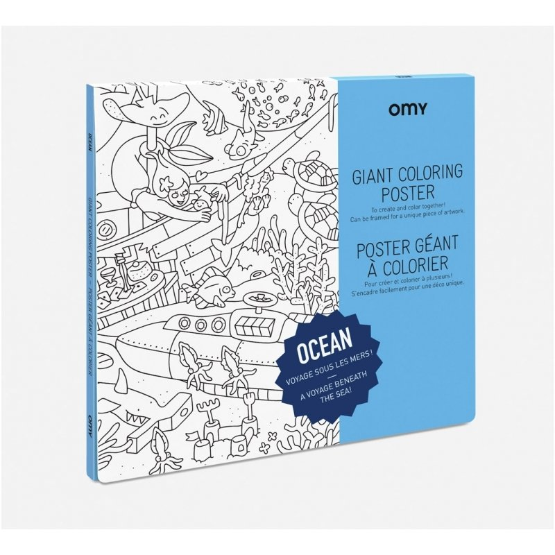OMY Giant Coloring Poster - Ocean | Playtime | KUKI store - it\'s a ...