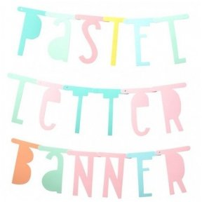 Letter banner: Pastel | A Little Lovely Company
