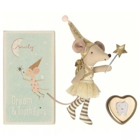 Tooth Fairy Big Sister Mouse with Metal Box | Maileg