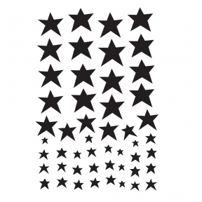 Wall stickers: Black Stars | A Little Lovely Company