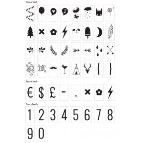 Simbolių rinkinys Lempai | A Little Lovely Company