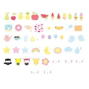 Simbolių rinkinys Lempai: Kawaii | A Little Lovely Company
