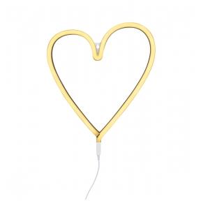 Širdelės lempa Geltona   A Little Lovely Company