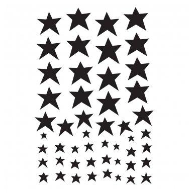 Sienų lipdukai: Juodos žvaigždės | A Little Lovely Company
