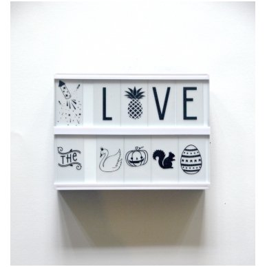 Simbolių Lempa A5 | A Little Lovely Company 3