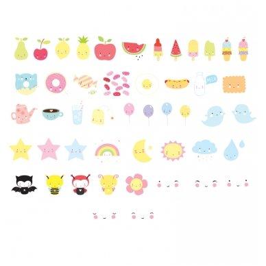 Simbolių rinkinys Lempai: Kawaii   A Little Lovely Company