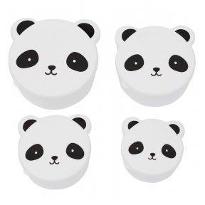 Užkandžių dėžutė 4 vnt. Panda | A Little Lovely Company