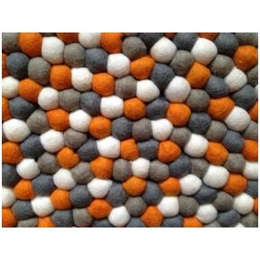 Vilnos rutuliukų kilimas Apelsinas 100cm