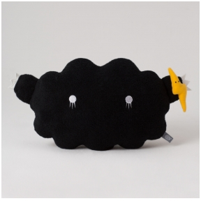Cloud Black Medium Cushion | Noodoll