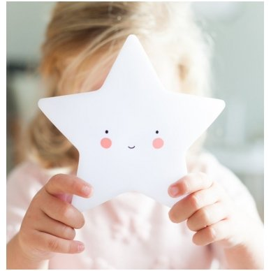 Žvaigždutės lempelė Balta | A Little Lovely Company 2