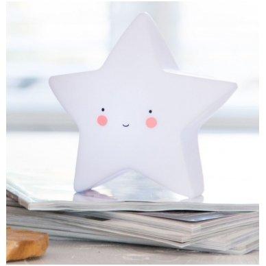 Žvaigždutės lempelė Balta   A Little Lovely Company 3